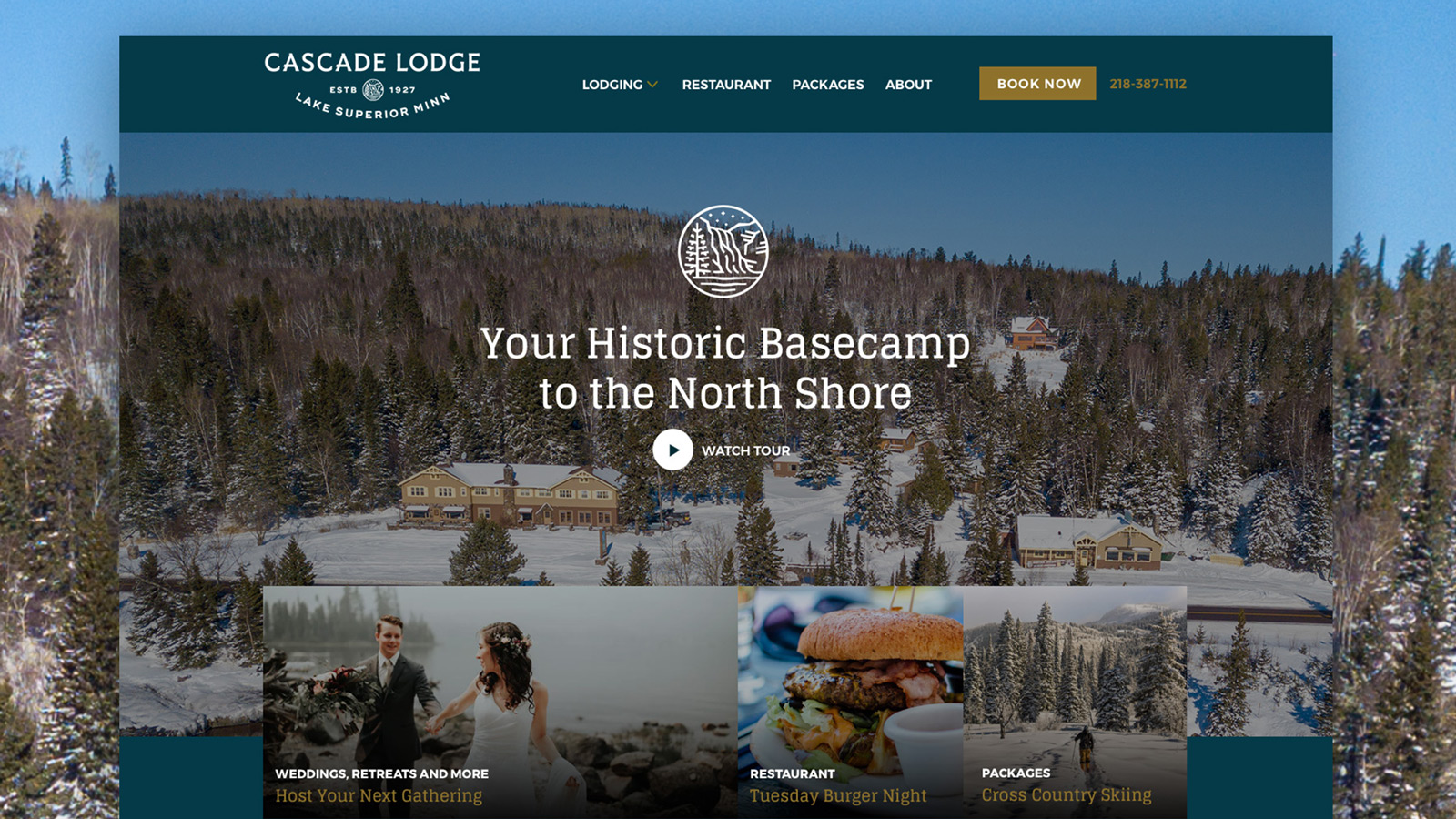 Cascade Lodge Lake Superior Website Design