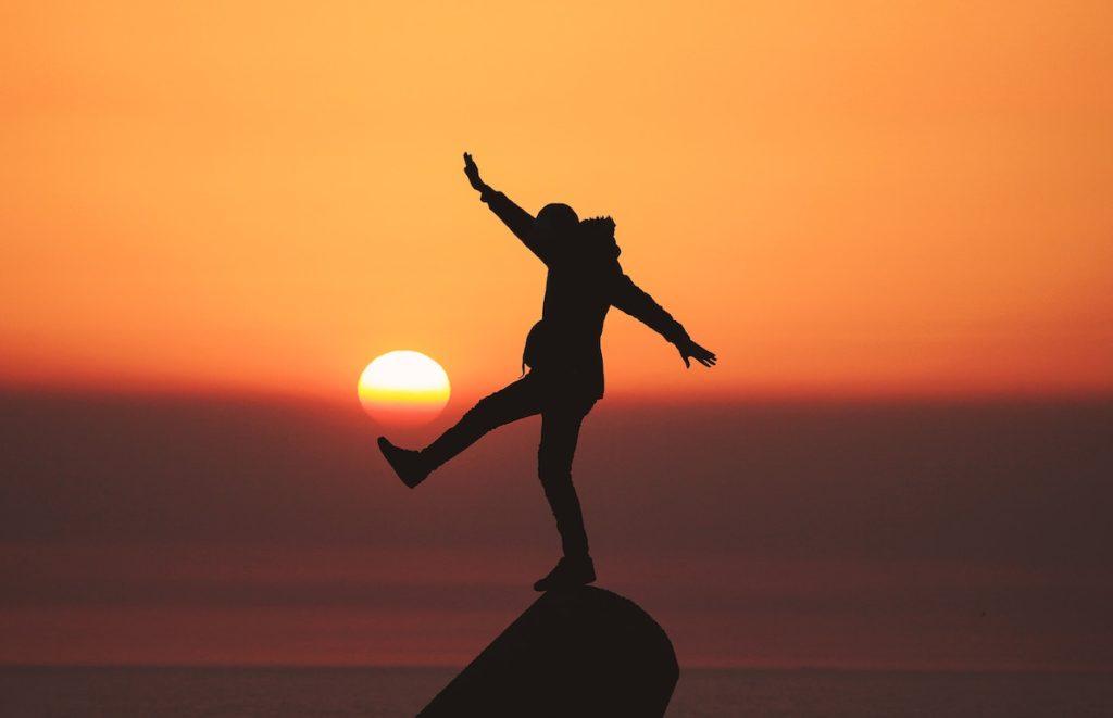Balancing At Sunset
