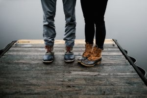 Bean Boots on Dock